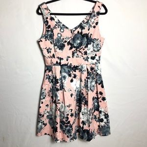ModCloth Ixia floral fit and flare dress